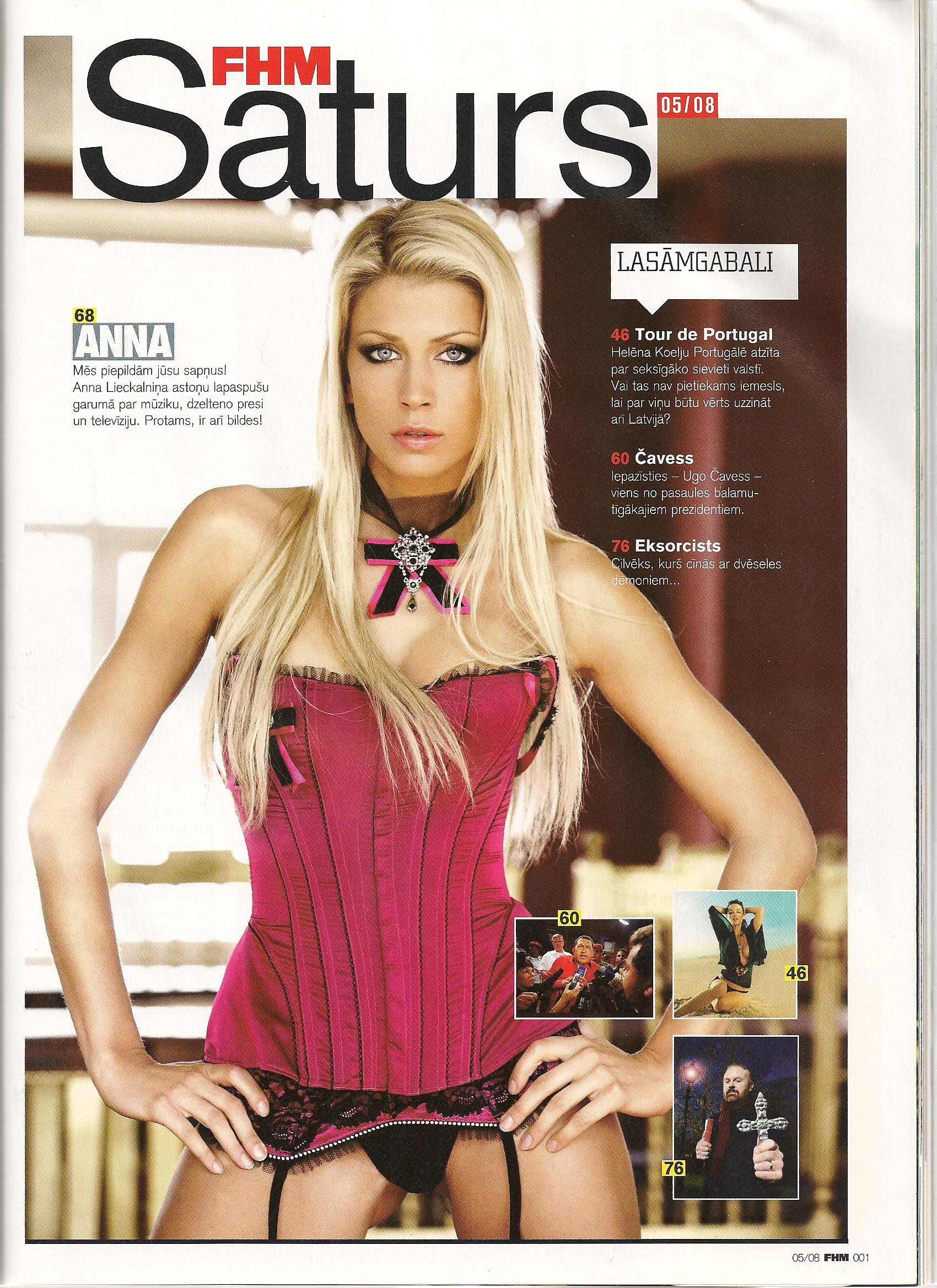 Anna Lieckalniņa, FHM feature